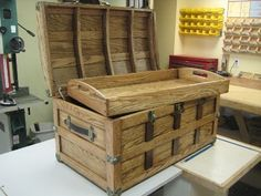 Steamer Trunk Plan - Rockler Woodworking Tools....cool. Very nautical