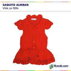 Saquito Almibar de Viva la Pepa #Moda #Nenas.  Para ver talles y comprar ¡Hacé click en la imagen!
