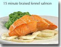 15 Minute Braised Fennel Salmon