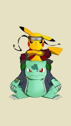 Pikachu and bulbasaur toad master mode naruto cross Pikachu Pikachu, Deadpool Pikachu, Charmander, Charizard, Wallpaper Naruto Shippuden, Naruto Shippuden Anime, Naruto Art, Boruto, Otaku Anime