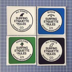 S.E.R. 스티커 4종 부산 디자인센터 디자인스토어에 입점  #그라핀 #서핑 #디자인 #스티커 #송정 #부산 #grapin #surf #surfing #graphicdesign #typography #sticker