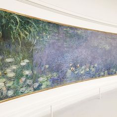 Water lilies by Claude Monet at the Musée de l'Orangerie in Paris.