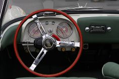 1958 Fiat 1200 TV Spider - dash