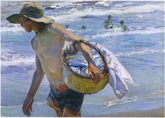 Fisherman in Valencia - Joaquín Sorolla - Completion Date: 1908