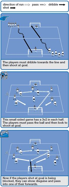 Long distance shooting soccer coaching session