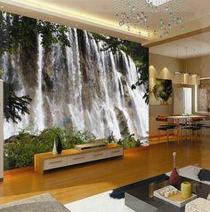 Papel de parede personalizado especial scenic cachoeira grande murais TV definição parede da sala de estar montanha de cobre(China (Mainland))