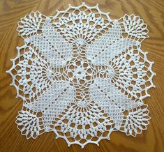 This beautiful handmade doily is made from white cotton thread, size This elegant doily will look beautiful on any table or can be used for any other decorative purpose. It will also make a great gift for someone special. Lace Doilies, Crochet Doilies, Crochet Lace, Thread Crochet, Filet Crochet, Doily Patterns, Crochet Patterns, Cotton Thread, Beautiful Crochet