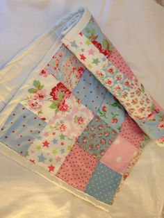Cath Kidston Shabby Chic Patchwork Quilt / Bedspread / Baby Blanket. £25.00, via Etsy.