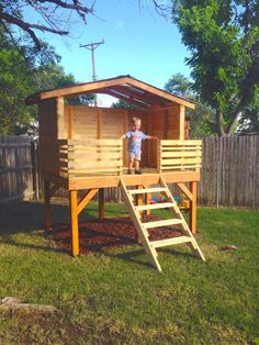 Image Result For Pictures Of Simple Outdoor Playhouses. Backyard Playhouse Build A PlayhouseBackyard FortPlayhouse ...
