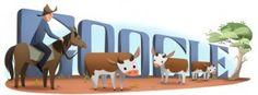 Am 17. Juni 2013 wird auf der australischen Google Seite der 146. Geburtstag von Henry Lawson gefeiert. Henry Archibald Lawson war ein australischer Autor und Poet. Er lebte vom 17. Juni 1867 bis zum 2. September 1922 in Australien. Das Doodle zeigt einen Cowboy auf seinem Pferd bei seiner Rinderherde.