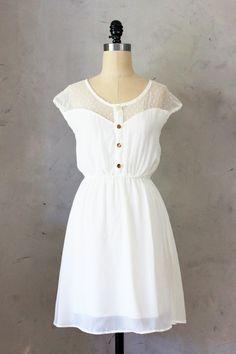 Fleet Collection Petit Dejeuner Dress - Little white dress in ivory //