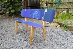 Snowboard Bench. I'm pretty sure I have enough old boards hanging around, and have always wanted to do this.