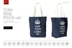 Tote Bag Mock-up by mesmeriseme.pro on @creativemarket