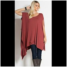 The Masala Tunic suzes S M L Beautiful assymetrical hem tunic Sizes S M L Material is rayon and lycra Tops Tunics