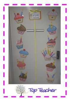 Printable birthday cup cakes class display and also on link shared or guided reading questiosn to ask. Class Displays, School Displays, Play Based Learning, Learning Activities, Primary Teaching, Teaching Ideas, Birthday Cup, Guided Reading, Teacher Resources