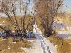 Marc Hanson Paintings | Marc Hanson, ATV Trail, oil, 6 x 8.