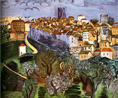 Vence Artwork By Raoul Dufy Oil Painting & Art Prints On Canvas For Sale Matisse, Raoul Dufy, Renoir, Monet, Canvas Art Prints, Fine Art Prints, Art Database, Naive Art, Kandinsky