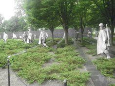 Washington DC - Korean War Veterans Memorial - it is almost eerie to walk through