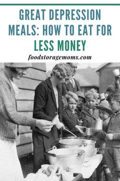 Great Depression Meals-how to eat for less money today. With grocery bills going through the roof, I asked my readers for ways to cut our grocery bill. Frugal Meals, Cheap Meals, Budget Meals, Budget Recipes, Inexpensive Meals, Freezer Meals, College Recipes, Frugal Tips, Easy Recipes