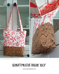 """Tasche """"Lucy"""" von knit.sew.wear.love Gym Bag, Sew, Design, Bags, Cool Bag, Sewing Patterns Bags, Handbags, Duffle Bags, Fabric Sewing"""