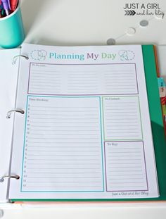 Our Home Binder: A Tour {with FREE printables!} - Just a Girl and Her Blog