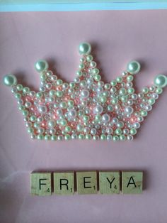 Items similar to Princess Crown - Princess Frame - Girls Bedroom - Little Princess on Etsy Scrabble Pieces Crafts, Scrabble Letters, Button Art, Box Frames, Black White, Jewels, Beads, Princess, Unique Jewelry