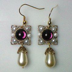 Catherine Howard Amethyst Earrings by sheryl Amethyst Earrings, Crystal Earrings, Dangle Earrings, King Henry, Henry Viii, Tudor History, European History, Antique Jewelry, Vintage Jewelry
