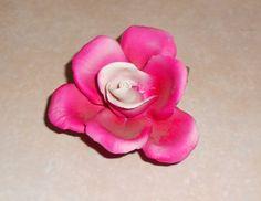 Porcelain Rose Figurine  Vintage Porcelain by VintageTrendyCharm