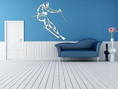 Wall Room Decor Art Vinyl Sticker Mural Decal Ski Snowboard Slop Big Large AS585