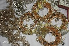 vintage bottle brush wreaths