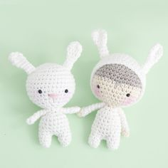 InArt: Bunny and Bunny Boy - free crochet patterns by Ina Rho.
