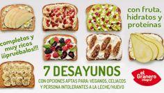 7 Desayunos Vegetarianos Nutritivos (con tabla para recortar y pegar en tu nevera)