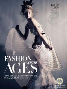 Gemma Ward featured in the                     Harpers Bazaar Korea editorial