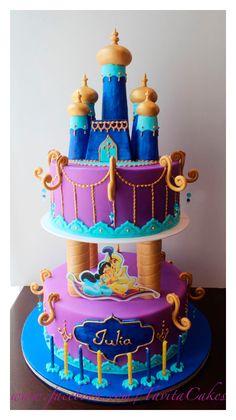Ideas bonitas para una fiesta de cumpleaños de Jazamín (Jasmine) de Aladdin…