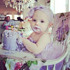Lavender first birthday tutu outfit cake smash #cakesmash #firstbirthday #kippybaby