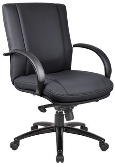 Aaria Elektra Mid-Back Conference Chair with Arms