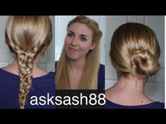 ▶ 3 Easy, Quick Back to School Hairstyles 2013 - Hairstyles for long hair and medium hair - YouTube