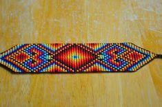 Loom Bracelet Patterns, Bead Loom Bracelets, Bead Loom Patterns, Beading Patterns, Seed Bead Jewelry, Beaded Jewelry, Loom Craft, Plastic Canvas Tissue Boxes, Native American Beadwork