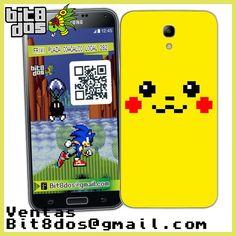 Case Face pikachu de Pokemon en 8 bits #pixelart Te elaboramos cualquier diseño de videojuegos. Más información en bit8dos@gmail.com