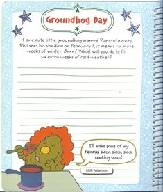 Mr. Men Little Miss: All Year Round - Groundhog Day (Page 1) #mrmenlittlemiss #mmlm #mrmenlittlemissallyearround #allyearround #mmlmallyearround #groundhogday #groundhog_day Mr Men Little Miss, All Year Round, My Love, Day, Cute, Kawaii