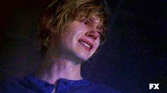tate langdon when i see this i want to cry with him  American Horror Story