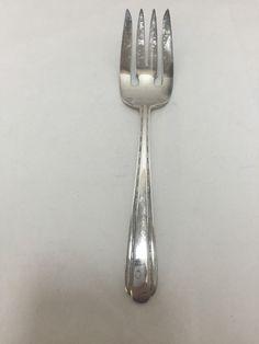 no mono Salad Fork 6 9//16 inches Prelude International Sterling Flatware