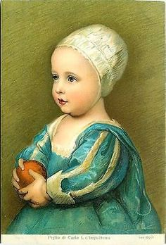Artist Signed Van Dyck 1906 Infant Son of Charles of England Vintage Postcard