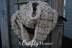 Easy Knit Infinity Scarf Pattern: Mid-December | A Crafty House: Knitting and Crochet Patterns and Crafts