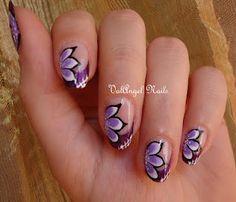 """ValAngel Nails Art: Nail Art """"mystic violet"""""""