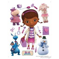 Doc Mcstuffins - Dottie, Stuffy, Lambie, Chilly and Hallie Wall Sticker Flower Wall Stickers, Stickers Online, Stickers Spiderman, Rainbow Wall, Doc Mcstuffins, Cute Disney, Disney Jr, Ideas, Plushies