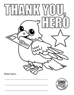 Coloring pages for Hero Mail | Operation Write Home