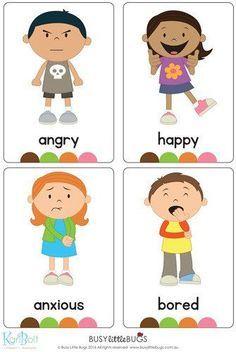 Emotions Full Body Flash Cards