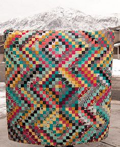 Nordika Scrappy Trip Quilt by Pitter Putter Stitch Bargello Quilts, Scrappy Quilts, Easy Quilts, 16 Patch Quilt, Quilt Blocks, Quilting Projects, Quilting Designs, Quilting Ideas, Sewing Projects