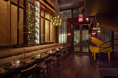 Winston's – NYC A 1940's themed champagne bar attracting the finest into its opulent setting filled with luxurious materials.